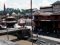 Ghats @ Pashupatinath Temple for performing final rites
